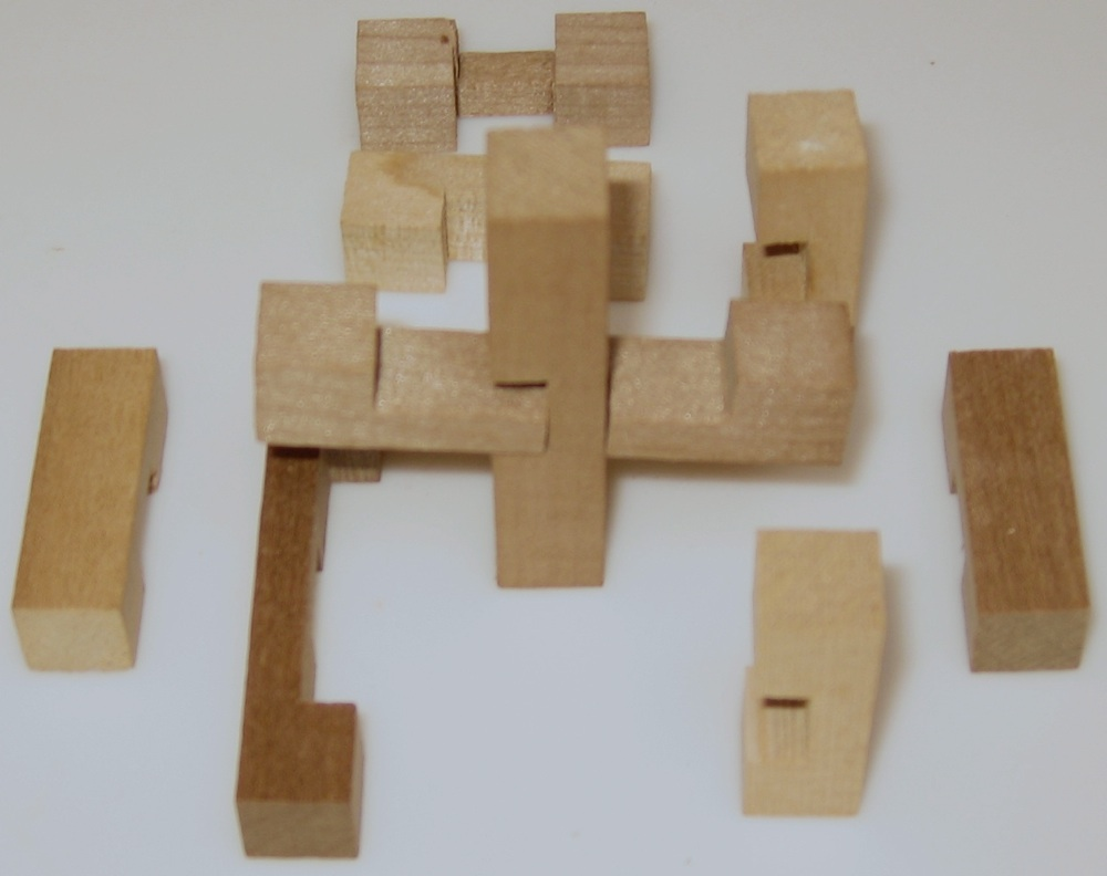 Wooden Puzzle Solutions 6 Pieces 15 Piece Wooden Puzzle