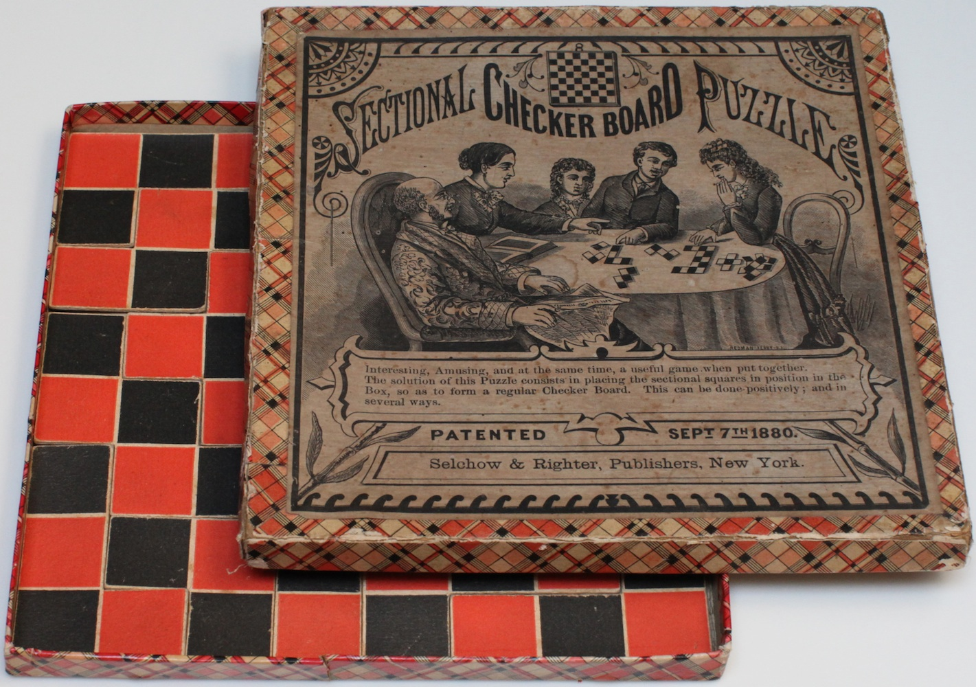 Sectional Checkerboard Puzzle