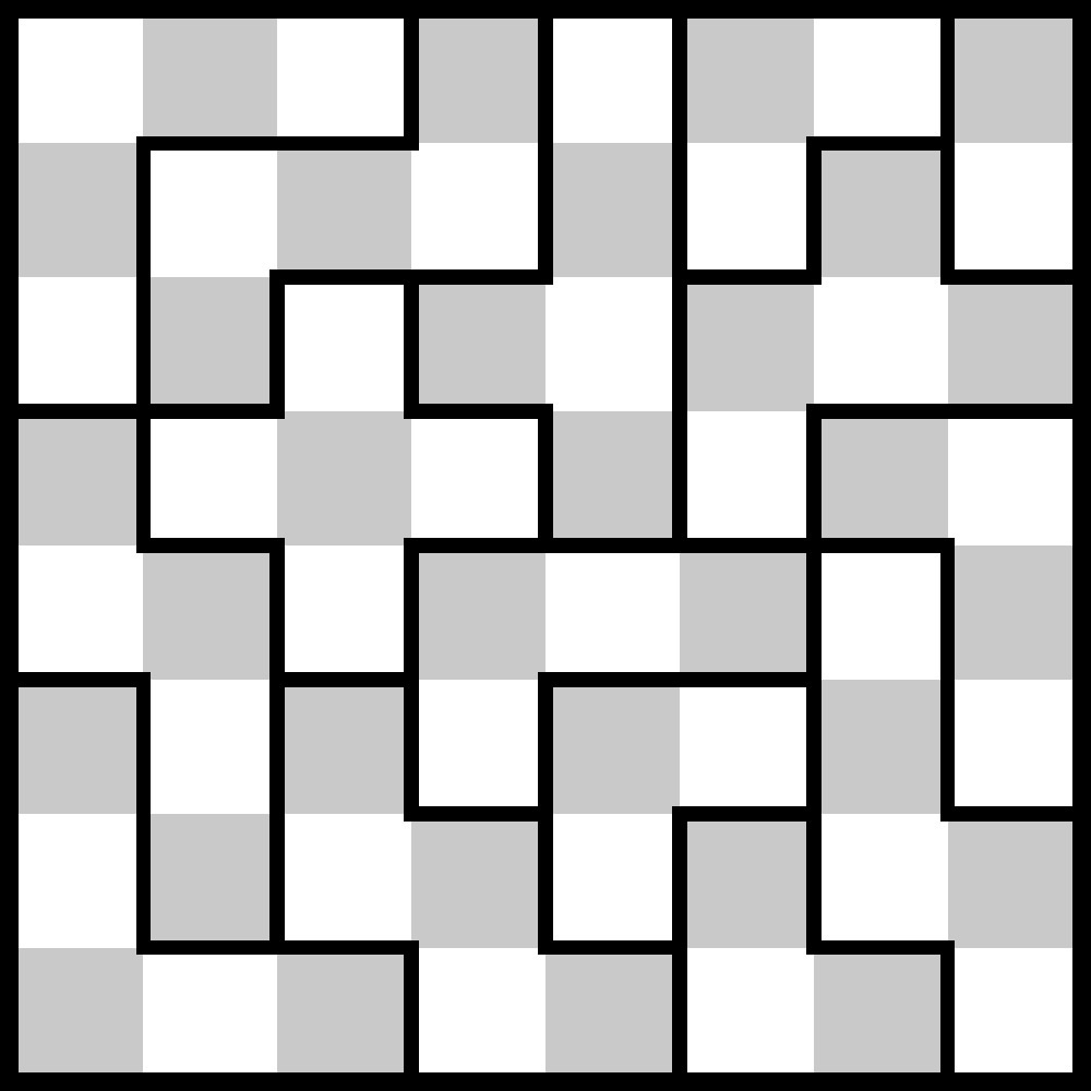 Sectional Checkerboard Puzzle Copyright J A Storer