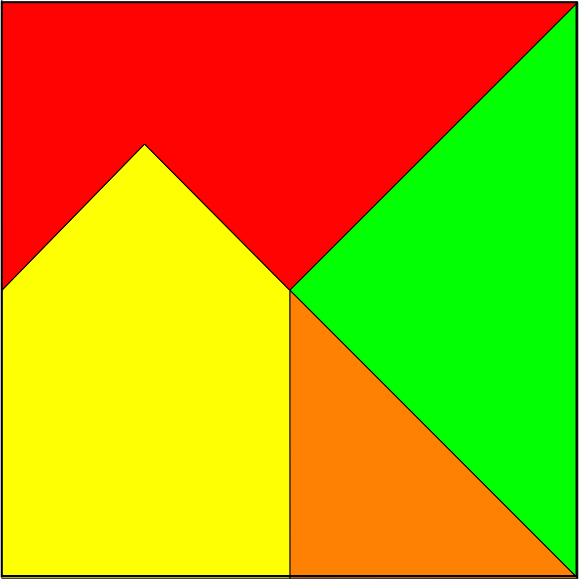 Fig. 399.—Ten-piece Square Puzzle. (For Guidance in Setting Out ...