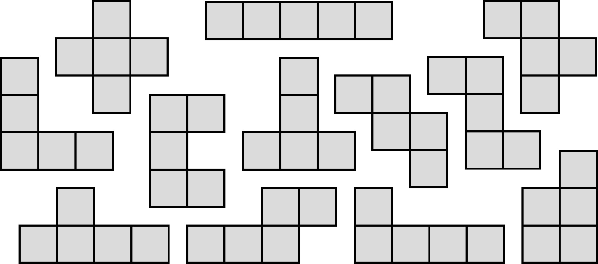 It is a picture of Pentominoes Printable with set