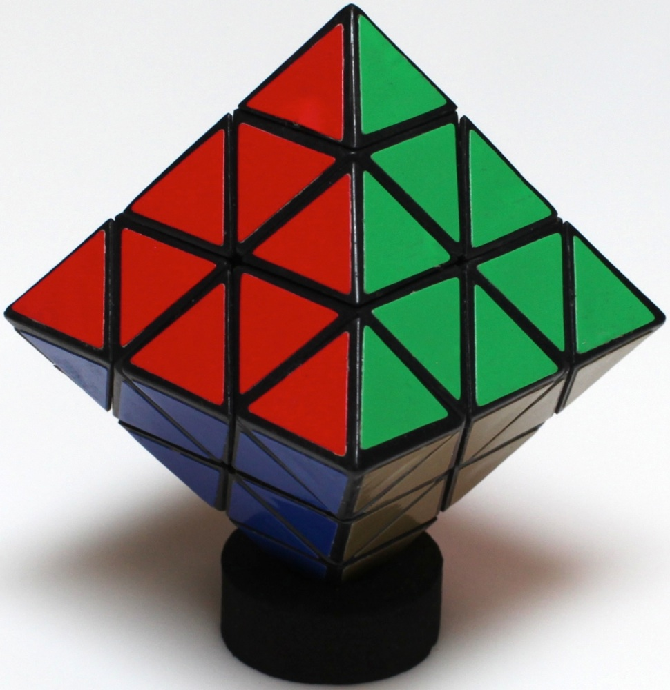 Aka Magic Octahedron Patented By C Hewlett 1984 Plastic 18 Inches Between Faces 3 Point To Opposite Are Green White