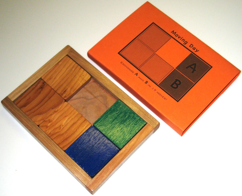 sliding block puzzle solution